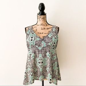 Other - Shore Club Sage Flowy Tankini Top